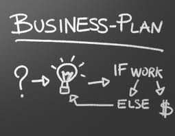 business plan black board