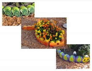 Fun edging in the Sensory Garden